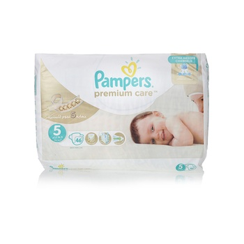 Pampers Premium Care Diapers  Size 5  Junior  11-18 kg  Value Pack  46 Count