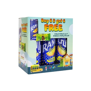 Rani 6X240Ml Can + Nature Valley Biscuit 6X25g Free