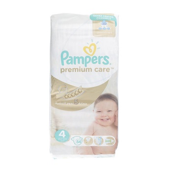 Pampers Premium Care Diapers, Size 4, Maxi, 8-14 Kg, Value Pack, 54 Count