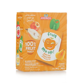 Andros Fruit Me Up Apple Pear 4*90g