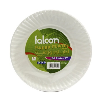 Falcon Paper Plates 9Inch 100pcs