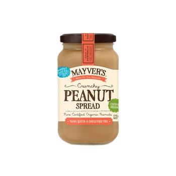 Mayvers Organic Peanut Spread - Crunchy 375g