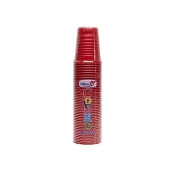 Dopla Disposables Color Line Cups 50 pcs x 200 cc Red (02461)