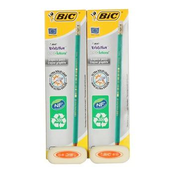 BIC Evolution HB Pencil 24 + Eraser 2Pc