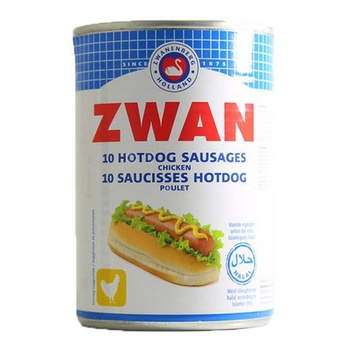 Zwan 10 Hot Dogs Chicken Sausages 400g