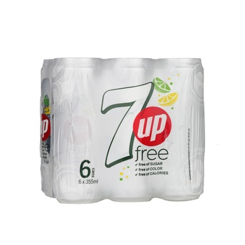 7UP Free Carbonated Soft Drink Cans 6x355ml