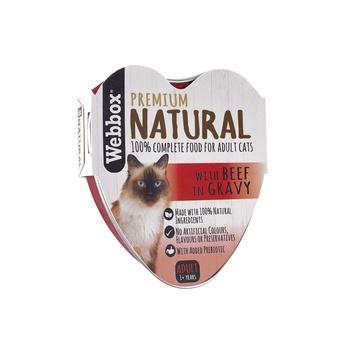 Webbox Natural Cat Food Heart Beef In Gravy 85g