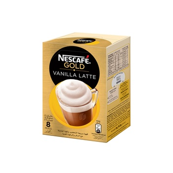 Nescafe Gold Vanilla Latte 8x18.5g