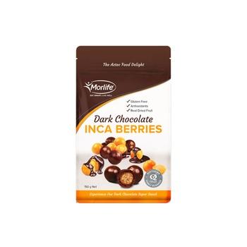 Morlife Dark Chocolate Coated Inca Berries 150g