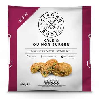 Strong Roots Kale And Quinoa Burger 450g