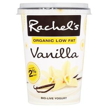 Rachels Organic Low Fat Vanilla Yoghurt 450g