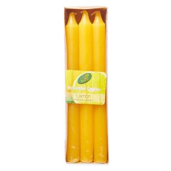 Samar Taper Candle 6Pc Yellow-Lemon