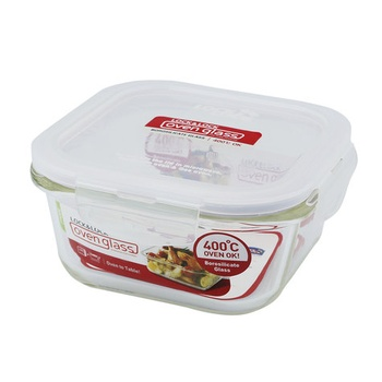 Lock & Lock Glass Square Container- 500ml