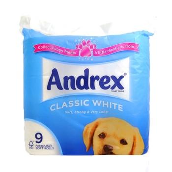 Andrex Toilet Tissue Classic White 9pcs