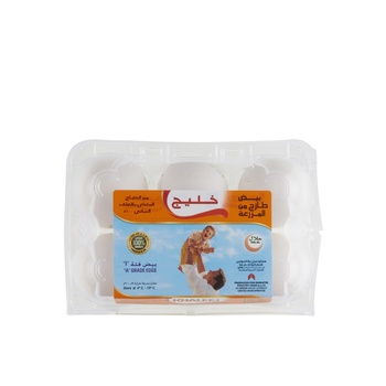 Khaleej White Eggs - Large 6 s