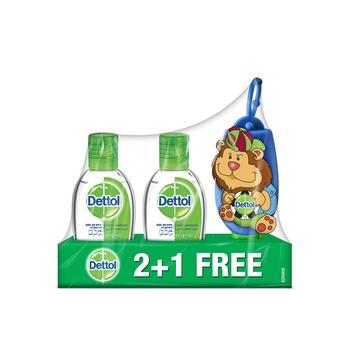 Dettol Hand Sanitizer Original 2 x 50 ml + 50 ml Free with Lion Bag Tag
