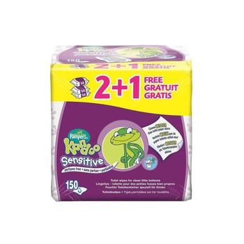 Kandoo Sensitive 3x55 Sheets Flusable Wipes (2+1 Free)