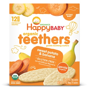 Happy Baby Organics Teethers Sweet Potato and Banana 48g
