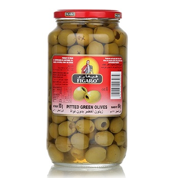 Figaro Pitted Green Olives 454g