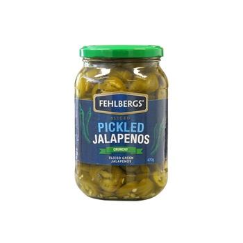 Fehlbergs Pickled Jalapeños - Crunchy 470g