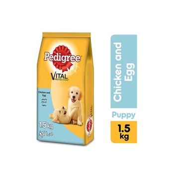 Pedigree Chicken & Eggs Dry Dog Food (Puppy) 1.5kg