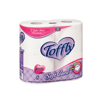 Toffly Soft Toilet Paper 3Ply 4 Roll