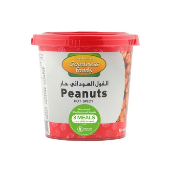 Goodness Foods Peanuts Hot Spicy Jar 200g