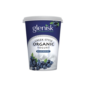 Glenisk Organic Greek Style Yoghurt Blueberry 450g