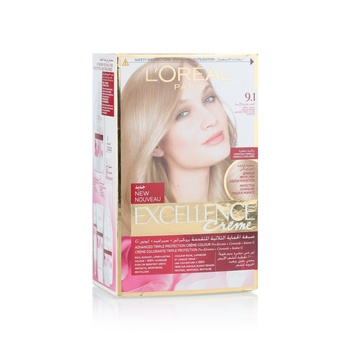 Loreal Excellence 9.1 Very Light Ash Blonde