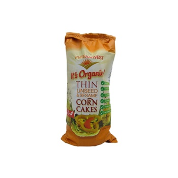 Pureharvest Organic Thin Corn Cakes With Linseed & Sesame 150g