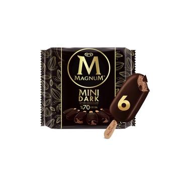 Magnum Ice Cream Mini Dark 70% Chocolate 60nl Pack Of 6