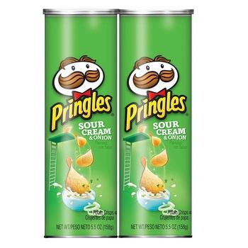 Pringles Sour Cream & Onion 165g Pack of 2