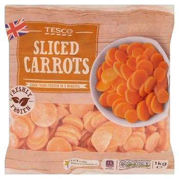 Tesco Sliced Carrots 1 kg