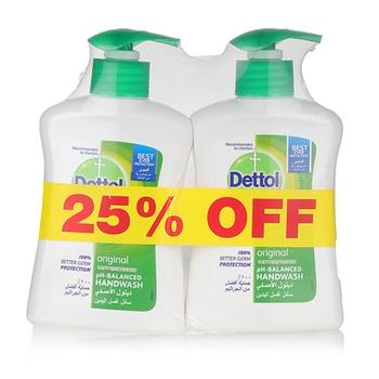 Dettol Original Handwash 2 x 200 ml @ 25% Off
