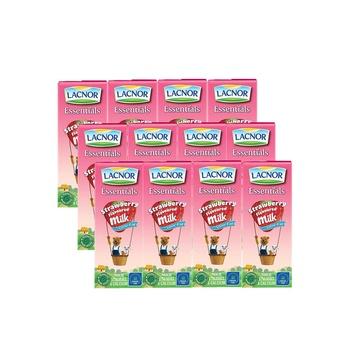Lacnor Flavored Milk Strawberry 12 x 180ml