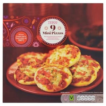 Tesco 9 Mini Pizzas 270g