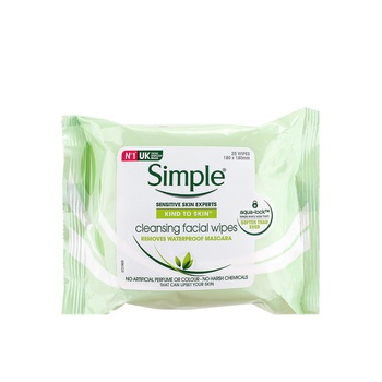Simple KIND TO SKIN Cleansing Facial Wipes 25 Counts