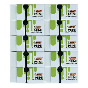 BIC Mini Plast Eraser Pouch 10Pcs