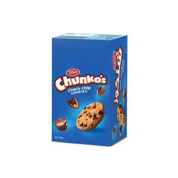 Tiffany Chunkos Chocochip Cookie 40g Pack of 12