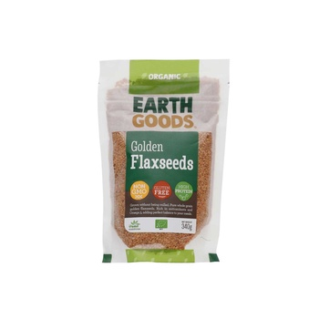 Earth Goods Organic Flax Seeds Blond 340G