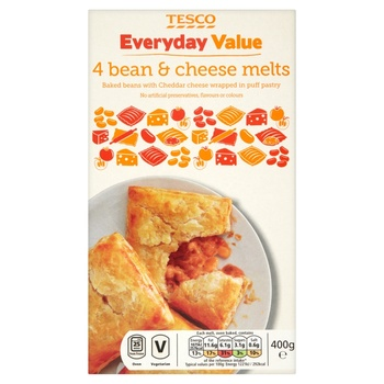 Tesco Everyday Value 4 Bean & Cheese Melts 400g