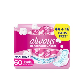 Always Sensitive Premium Care Large with Wings 2 x 30 Count  @ 27% Off