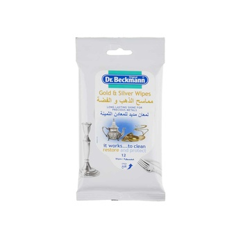 Dr. Beckmann Gold And Silver Metal 12 Wipes