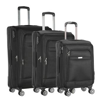 Voyager Trolley Bag 3P Set Black