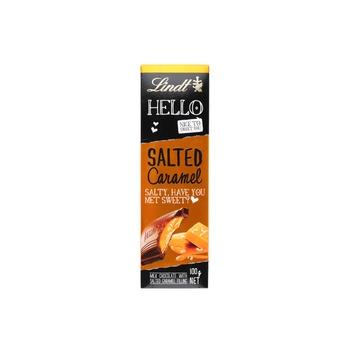 Lindt Hello Salted Caramel Tab 100g