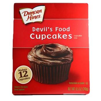 Duncan Hines Cup Cake Devils Food 240g