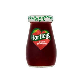 Hartleys best jam strawberry  340g