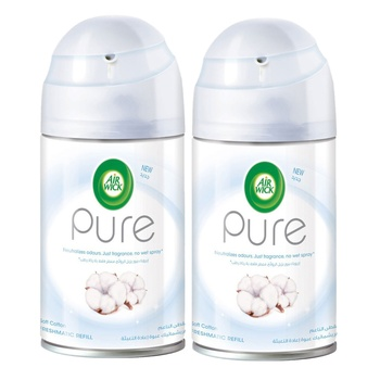 Air Wick Pure Soft Cotton Freshmatic Refill 250ml Twin Pack @ 50% Off