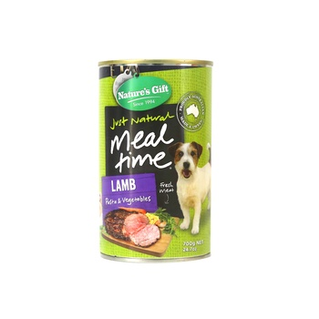Natures Gift Lamb Pasta & Vegetables Dog Food 700g