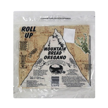 Mountain Bread Oregano Roll up 200g